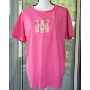 MCcc Energy Sportswear Pink XL Cotton T Shirt